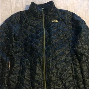 Black North Face Thermoball Puffer Jacket